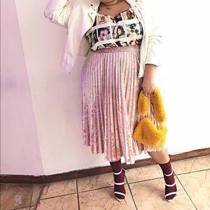 Blush Velvet Skirt
